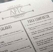 Carta restaurante. Un proyecto de Diseño editorial y Cocina de Maria Jiménez         - 12.02.2015