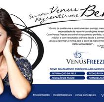 Venus Concept: lanzamiento de la marca en España y Portugal.. Un proyecto de Diseño, Publicidad, Dirección de arte, Br, ing e Identidad, Consultoría creativa, Eventos y Marketing de Tea For Three  - 16-02-2015