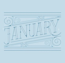 January | Lettering works. A Graphic Design, Illustration, T, and pograph project by Mercè Núñez Mayoral - 01.01.2015