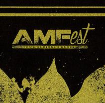 AMFest / Festival Instrumental de Barcelona. Un proyecto de Ilustración y Serigrafía de Jorge Ambrona Garcia-Rico         - 26.02.2015