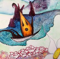 """Ilustración para """"La Mariposa"""" de Hans Christian Andersen"""". A Illustration project by Casandra Pina         - 27.02.2015"""