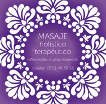 Masaje Holístico Terapéutico. Um projeto de 3D e Design gráfico de Juan Cruz Maciorowski         - 01.11.2014