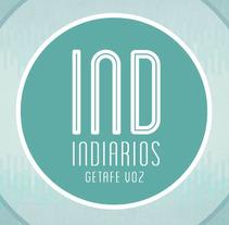 IND, logotipo e imagenes para redes sociales del programa de radio INDIARIOS.. Un proyecto de Diseño, Br, ing e Identidad y Diseño gráfico de pcarpena         - 03.03.2015