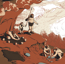 El Neandertal en Málaga. A Illustration, Animation&Information Design project by Juan Esteban Rodríguez         - 09.03.2015