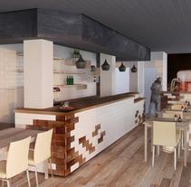 3D Cafetería en Goya. Un proyecto de 3D, Arquitectura interior y Diseño de interiores de Pablo A Martín Pérez         - 11.03.2015