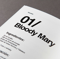 Diseño de carta de cocktails para Nectar Events. Um projeto de Design gráfico e Tipografia de estudi oh!         - 12.04.2014