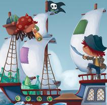 Ecovidrio y los piratas.. A Illustration project by macus romero - 20-04-2013