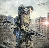 Guerra - Retoque de Película. Un proyecto de Fotografía y Diseño gráfico de Asier Ortiz         - 22.04.2015