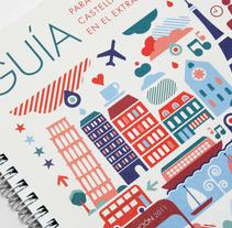 Guia para Jóvenes Castellano Manchegos en el Extranjero . Un proyecto de Ilustración y Diseño gráfico de Juan GPM         - 31.12.2010