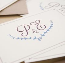 Invitación boda Patricia&Eugenio . Un proyecto de Diseño y Diseño gráfico de Mireia Miralles Lamazares         - 31.01.2013