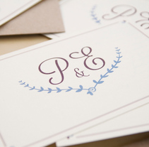 Invitación boda Patricia&Eugenio . A Design, and Graphic Design project by Mireia Miralles Lamazares         - 31.01.2013