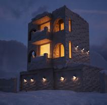 Diseño 3D - Iluminación y nieve. Um projeto de 3D e Design de iluminação de Emilio Guzmán         - 06.05.2015