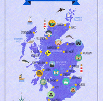 Map of Scotland. A Graphic Design, and Multimedia project by Laura Renart Macías - 10-05-2015