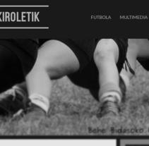 kiroletik.eus. A Web Design project by Iune Trecet         - 30.01.2015