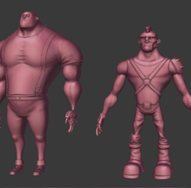 Personajes en proceso. A 3D, and Character Design project by Marc Lidon - 24-05-2015