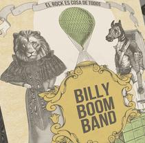 BILLY BOOM BAND. Un proyecto de Ilustración, Diseño gráfico y Collage de Fernando Prieto Serrano         - 04.06.2015