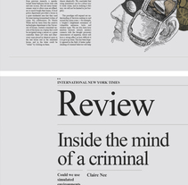 INSIDE THE MIND OF A CRIMINAL. Un proyecto de Diseño, Ilustración y Diseño editorial de Jaqueline Vanek - 08-06-2015