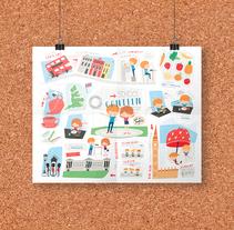 Eat in English. Un proyecto de Ilustración y Diseño gráfico de Laura Carreira Vidal - 10-06-2015