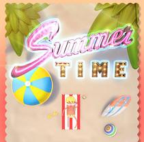 Summer Time. Un proyecto de 3D y Diseño gráfico de Enrique Núñez Ayllón - 11-06-2015