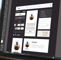 UI KIT - Elegant. Um projeto de UI / UX, Design gráfico, Web design e Desenvolvimento Web de Belén del Olmo Gil         - 05.06.2015