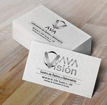 AvA Visión - Diseño de Imagen de Marca - Tarjetas de Visita - Proyecto Personal. Un proyecto de Diseño, Br e ing e Identidad de Erica Tourís Fresco - 13-06-2015