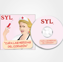 Vector illustration and layout for the cover, back and label of a SYL CD. A Illustration, and Graphic Design project by Raquel Bertrán         - 09.05.2015