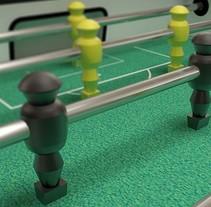 Modelado y texturizado 3D - Futbolín. A 3D project by Mariano Fernández - 18-06-2015