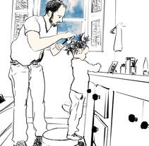 Papi, ¿cuántas coletas me caben en la cabeza?. Um projeto de Ilustração de martamartinez - 22-06-2015