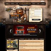 Design Web site Juego Cultures Online. Um projeto de Web design de Garrote Carlos         - 29.06.2012