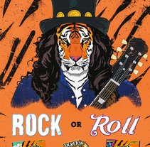 Tigretón- Rock or Roar. A Illustration project by d_velas92 - 30-06-2015