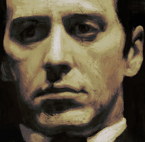 Michael Corleone. A Illustration, and Painting project by miguel sastre - 06-07-2015
