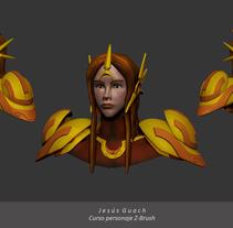 Mi Proyecto del curso Modelado de personajes en 3D. Un proyecto de 3D de Jesús Guach         - 12.07.2015
