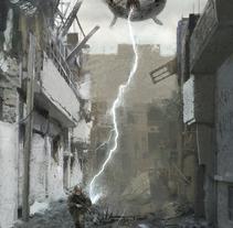 Spaceship attack. Un proyecto de Ilustración y Bellas Artes de Adrián  Rodríguez - 14-07-2015