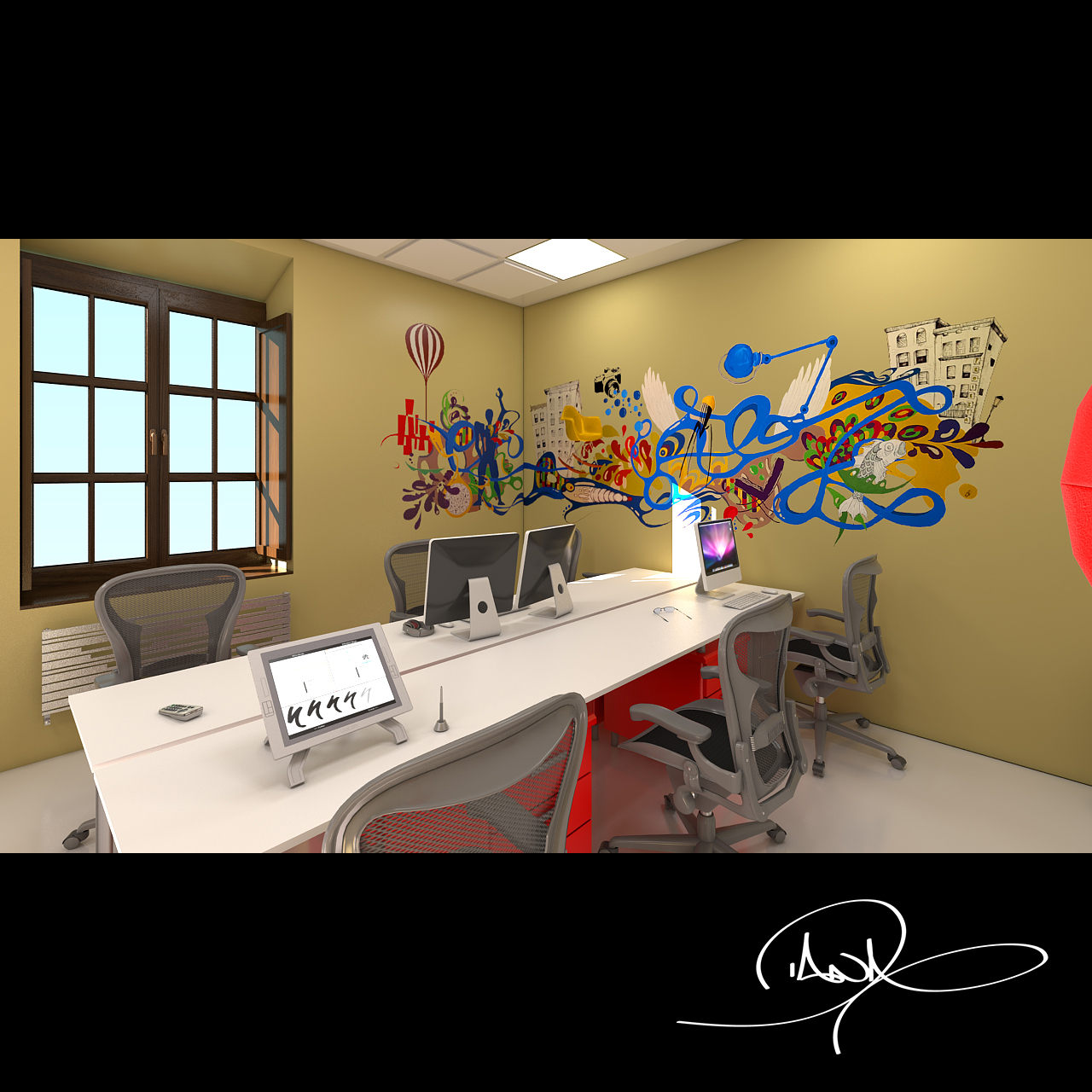 Estudio de dise o 3d interior domestika for Estudio diseno interiores
