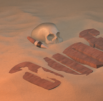 Dune - escena rapida. A 3D project by Julian Rivas         - 26.07.2015