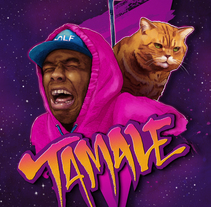 """Póster de """"Tamale"""", Tyler the Creator. A Illustration, and Fine Art project by Black Show Studio         - 01.08.2015"""