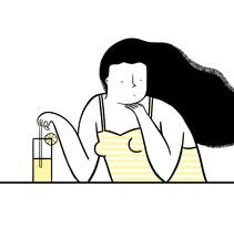 Limonada - Serigrafía para Nham Nham. Un proyecto de Ilustración y Serigrafía de ana seixas         - 14.12.2014