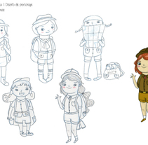 Diseño de personaje: Niña exploradora. A Illustration, and Character Design project by Paula Hurtado Arenas         - 09.08.2015