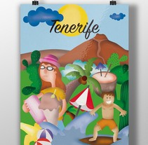 Tenerife-Felicidad. A Illustration, and Graphic Design project by Cristina Saiz López - 14-08-2015