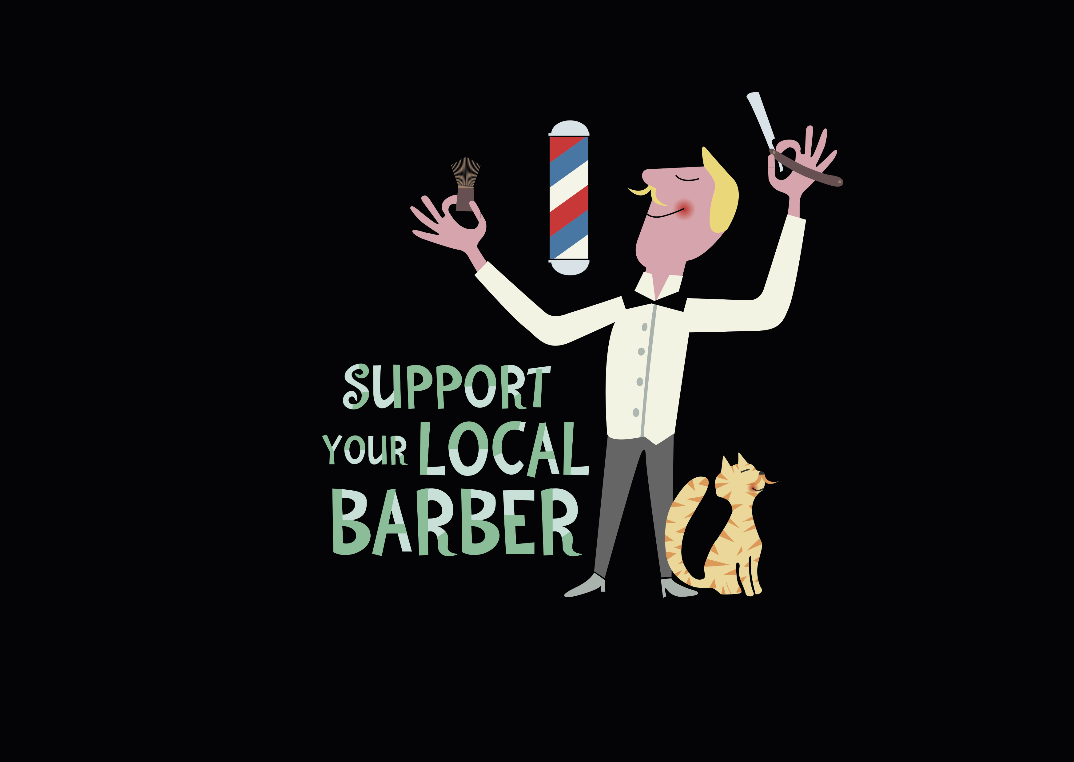 Local Barbers : Support your local barber Domestika