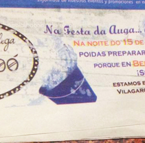 Faldón para el periódico - Bembó - Festa de San Roque 2015. Un proyecto de Diseño editorial y Diseño gráfico de Erica Tourís Fresco - 18-08-2015