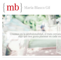 Web para María Blasco Gil {Mb}. A Design, Br, ing, Identit, Graphic Design, Web Design, and Web Development project by Borja González de Rivas         - 09.11.2014