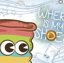 """App infantil """"Where is my shoe?"""". A Design project by Jorge de la Fuente Fernández         - 23.08.2015"""