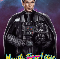 Darth Spock. A Design, Illustration, Fine Art, T, and pograph project by BlancLemur         - 24.08.2015