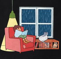 Rainy night. Um projeto de Ilustração de Bernat Muntés - 25-08-2015