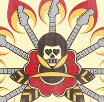 Hendrix. Un proyecto de Ilustración de Alejandro Moreno Paramio         - 14.05.2015