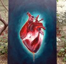 Corazon. A Illustration, and Painting project by Javier Casanueva G. - 30-08-2015