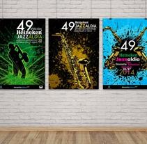 Carteles Jazzaldi. Concurso. Proyecto propio. Um projeto de Ilustração e Design gráfico de Alex Goienetxea - 25-02-2014