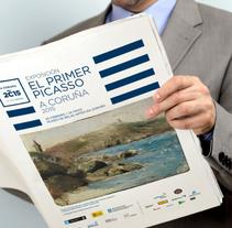 Exposición El Primer Picasso. A Coruña 2015. A Design, and Advertising project by Diego Equis De         - 06.01.2015