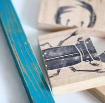 Proyecto Carvado de sellos y técnicas de estampación (explorando nuevas opciones). Un proyecto de Artesanía de austin553         - 16.10.2015